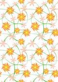 Fundo de flores sem emenda — Fotografia Stock