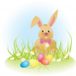 Royalty-Free Stock Photo: Easter bunny vector ilustration