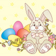 Easter bunny vector ilustration - Stock Photo