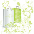 Royalty-Free Stock Photo: Green shopping bag