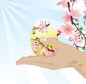 手带复活节彩蛋 — 图库照片