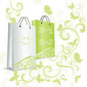 Green shopping bag — Stockfoto