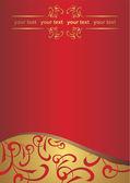 Red letterhead — Stock Photo