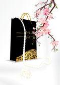 Japan perl bag — Stock Photo