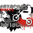 Royalty-Free Stock Imagem Vetorial: Motocross vector