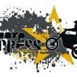 Vector de stock : Motocross vector