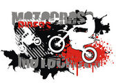 Motocross vector — Stock Vector