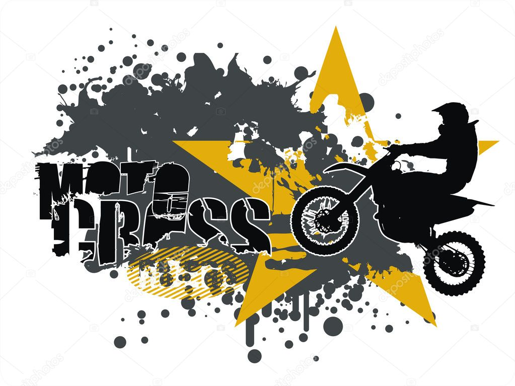 mountains with dirt bike wheel  Logo Template by