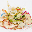 Stock Photo: Pencils shavings