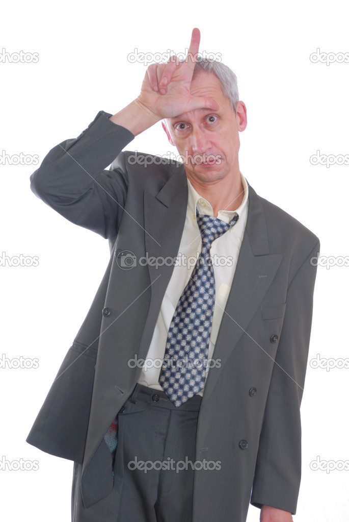 Photograph of business type man with expression isolated  Stock Photo #2077587