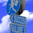 Royalty-Free Stock Photo: Success failure sign