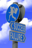 Success failure sign — Stock Photo