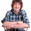 Male teenager smiling — Stock Photo