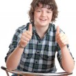 Teenager with thumbs up — Stock Photo