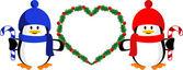 Christmas heart — Stock Vector