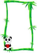 Bamboo banner — Stock Vector
