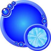Blue Logo — Stock Vector