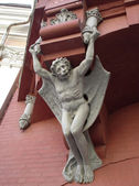 Here is a Chimera or gargoyle on the wall, Ukraine, Kiev — Stock Photo