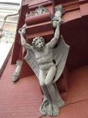 Here is a Chimera or gargoyle on the wall, Ukraine, Kiev — Stock Photo