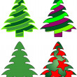 Christmas trees — Stock Vector #2111006