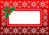 Christmas Holly banner — Stock Vector