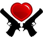 Dangerous love — Stock Vector