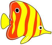 Exotic Fish — Stock Vector