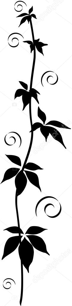 This is a black floral ornament - vector design; isolated  — Stock Vector #2157773