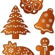 Royalty-Free Stock Vector Image: Gingerbread cookies