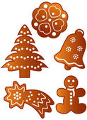 Gingerbread cookies — 图库矢量图片