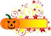 Halloween Banner — Stock Vector
