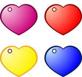 Heart gift tags — 图库矢量图片