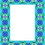Mosaic Frame — Stock Vector