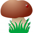 Cartoon Mushroom - Stock Vector