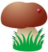 Cartoon Mushroom — Stock Vector