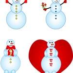 Smailing snowmen — Stock Vector #2393900