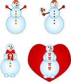 Smailing snowmen — Stock Vector