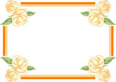 Rose Frame — Stock Vector