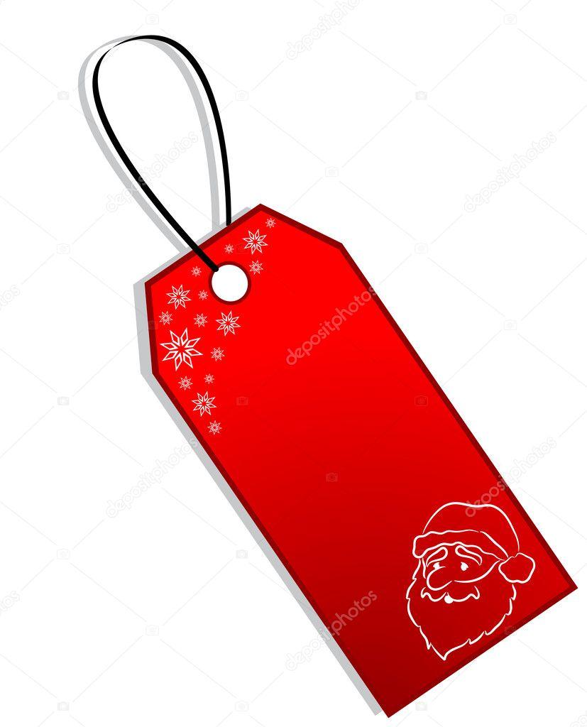 Christmas Gift Tag — Stock Vector © Tallisman #2533337