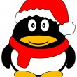 Vettoriale Stock : Christmas Penguin