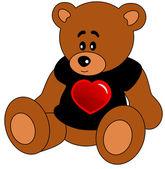クマのおもちゃ — ストックベクタ