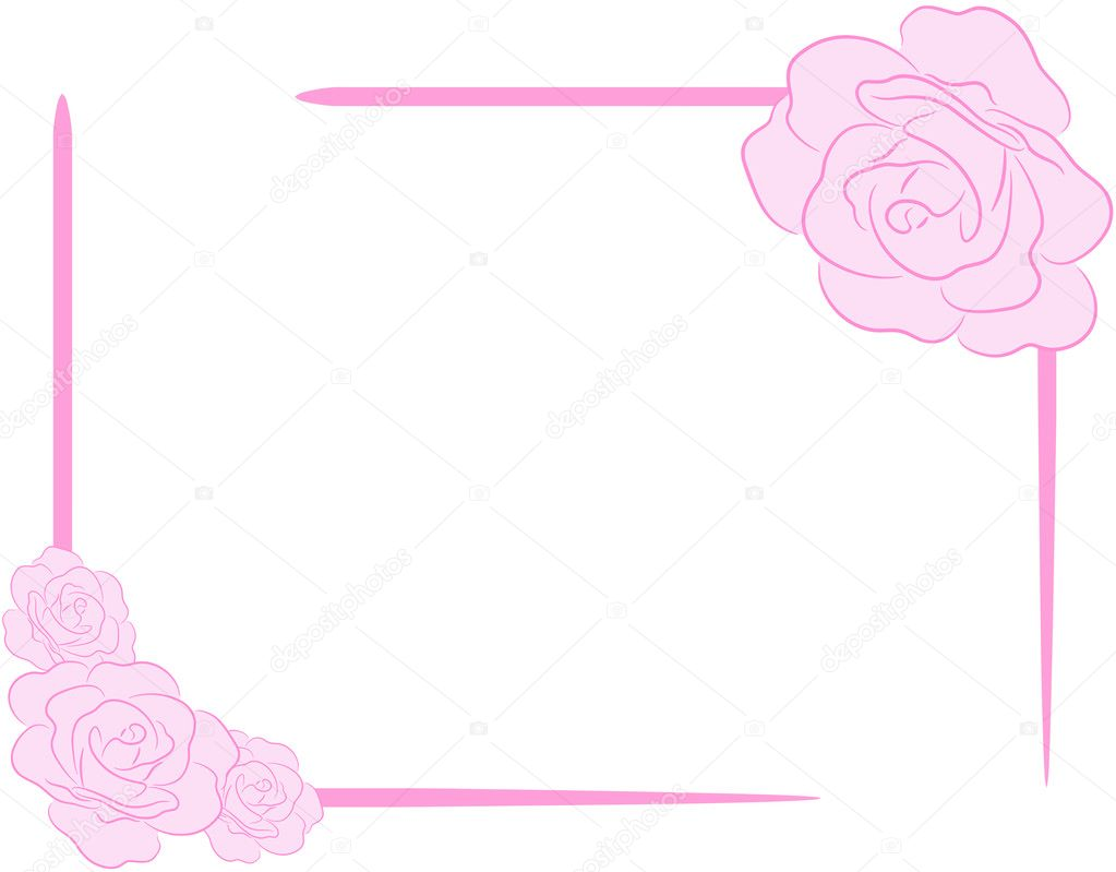 Rose Frame - Stock Illustration