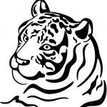 Tigre — Vector de stock