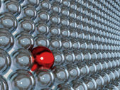 3d red sphere as individuality — Stock Photo