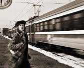 Missed train — Stock Photo