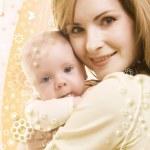 Baby and mum — Stock Photo