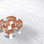 Transparent 3D puzzle — Stock Photo
