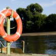 Wheel - life preserver — Stock Photo