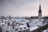 Tallinn in wintertime — Stock Photo
