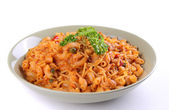 Plate of italian pasta — Stock Photo